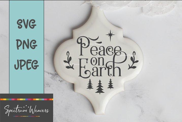 Peace on Earth ornament design