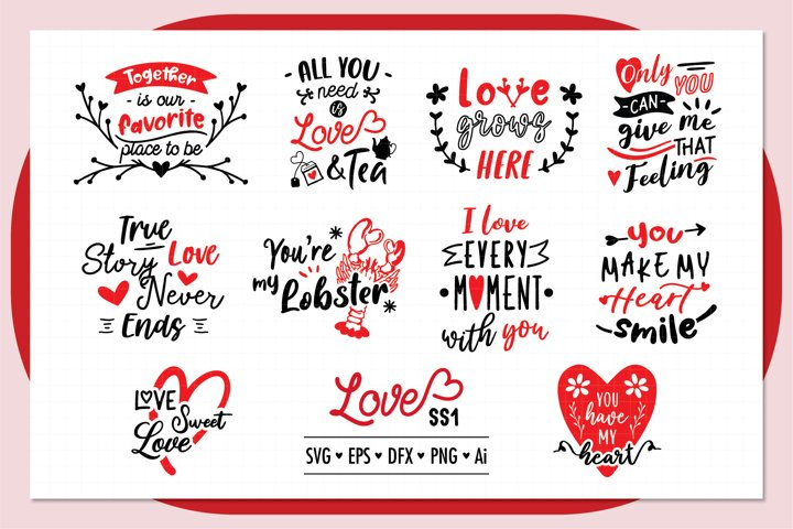 Love ss1 SVG Bundle , Valentine SVG Bundle