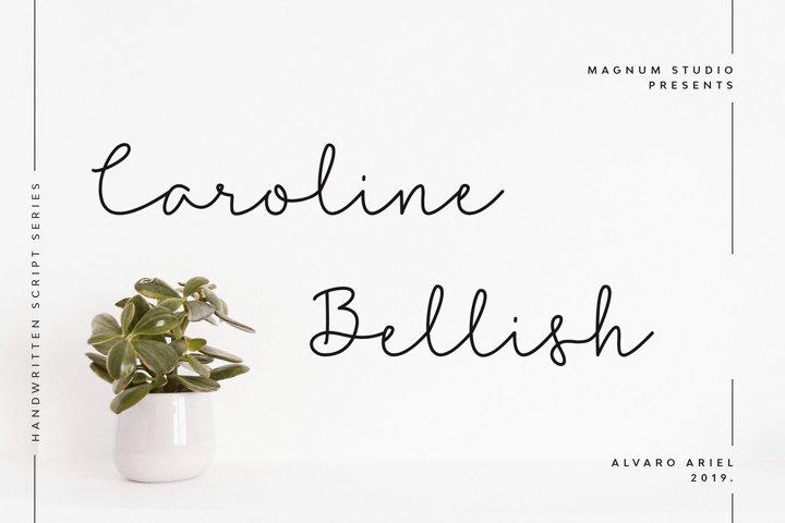 Caroline Bellish | Handwritten Script Font
