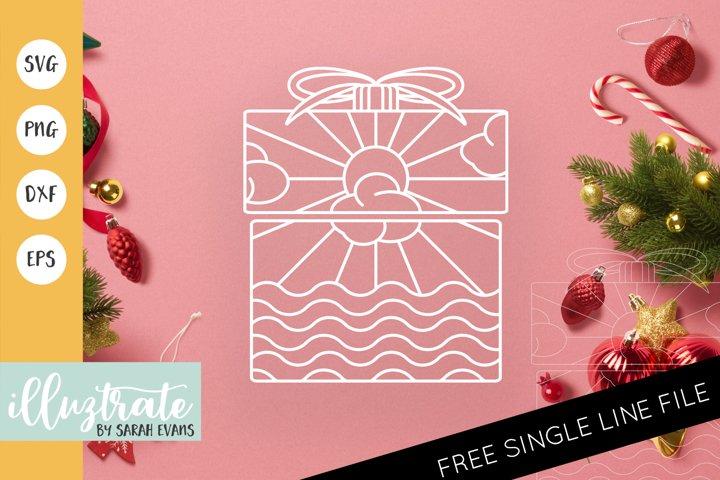 Christmas Present Mandala SVG | Christmas Mandala SVG File