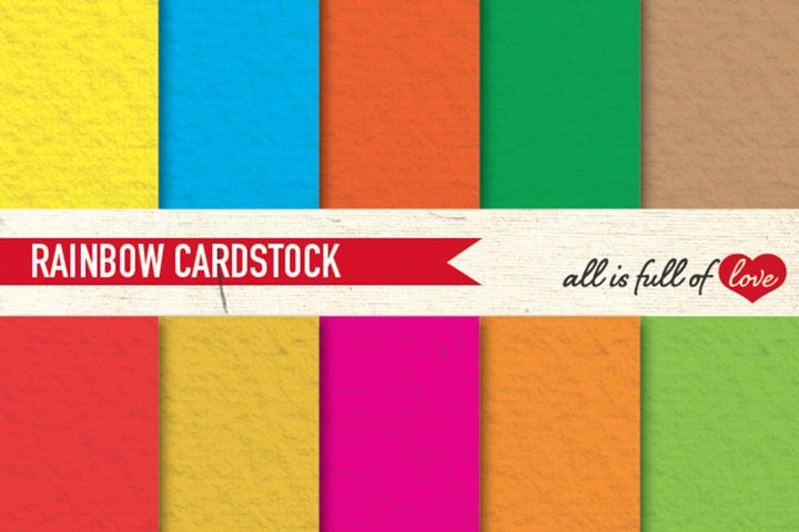 Rainbow Cardstock Background Digital Graphics