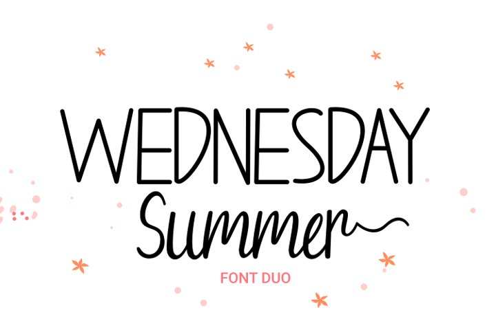 Wednesday Summer - Font Duo