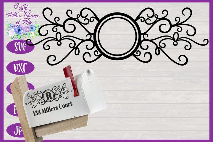 Mailbox Monogram SVG - Laser Cut Flourish Design