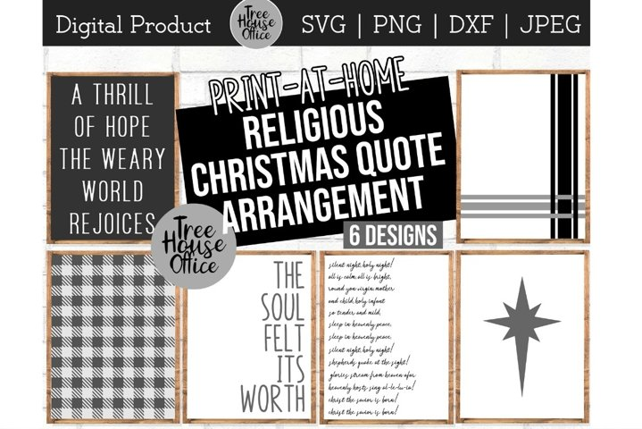 Religious Christmas Svg, Oh Holy Night Bundle, Wall Print