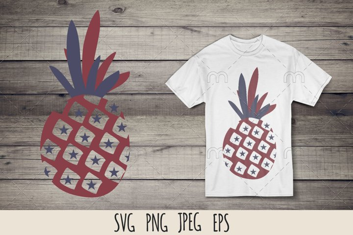 Patriotic pineapple SVG cut file