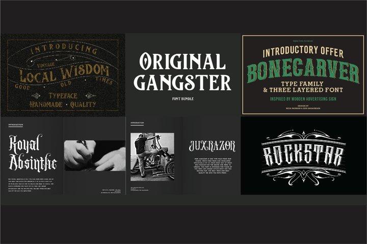 Original Gangster Font Bundle