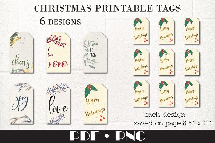 Christmas Gift tags, 6 templates.