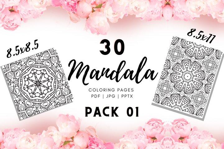 Mandala coloring pages | abstract pattern | KDP templates