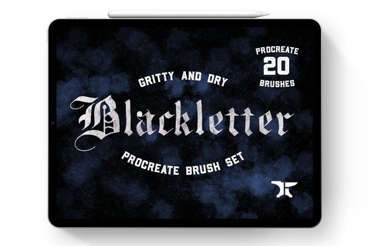 Gothic Blackletter Procreate Lettering Brush Set