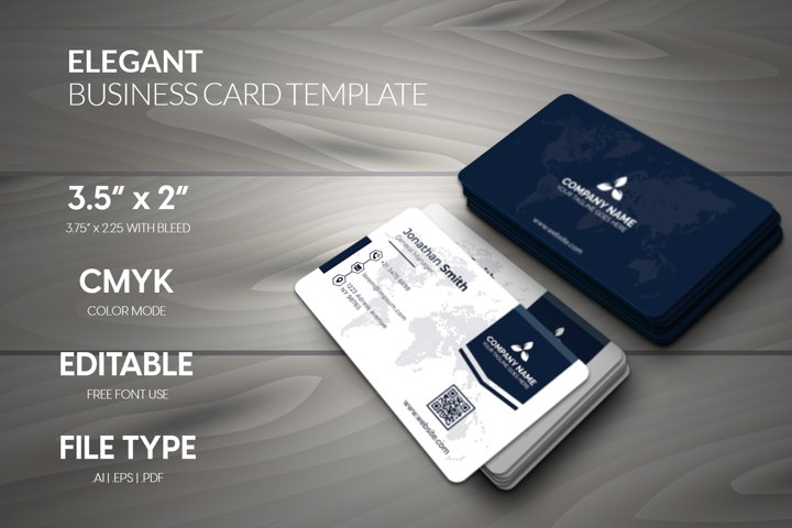 Elegant Stylish corporate business card template.