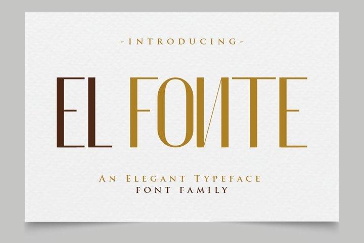 El Fónte - An Elegant Typeface Family