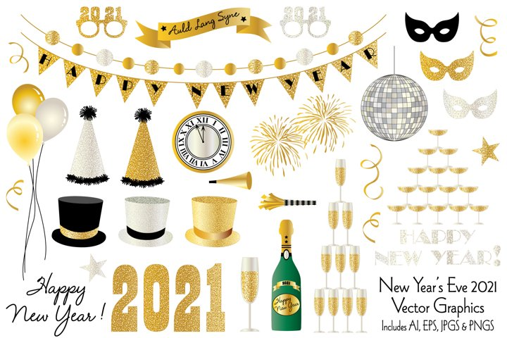 New Years Eve 2021 Clipart Graphics