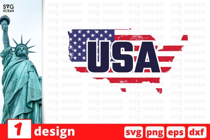 USA flag map Svg cut file | fourth of july cricut