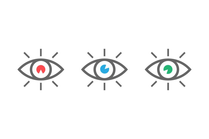Eyes icons set. Look and Vision icons. Eyes vector symbols