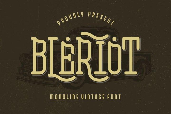 Bleriot - Monoline Vintage Font