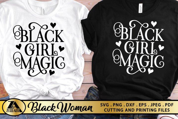 Black Girl SVG PNG EPS DXF Black Woman SVG Black Queen SVG