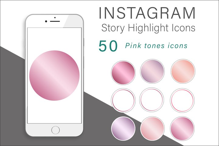 Pink Tones Instagram Highlights Icons