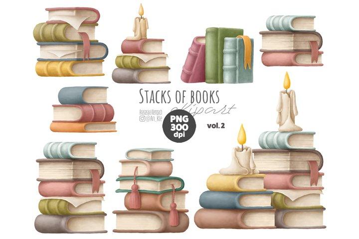 Books stacks clipart