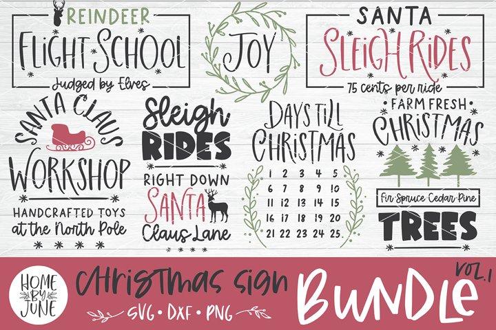 Christmas Sign Bundle Vol. 1 SVG DXF PNG