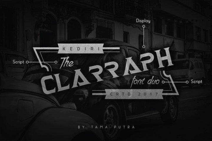 Clarraph Display and Handwritten Font Duo