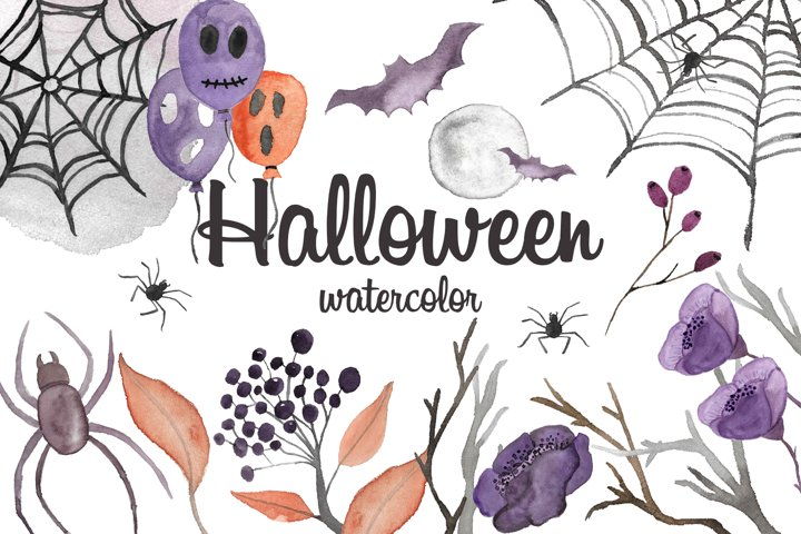 Halloween watercolor