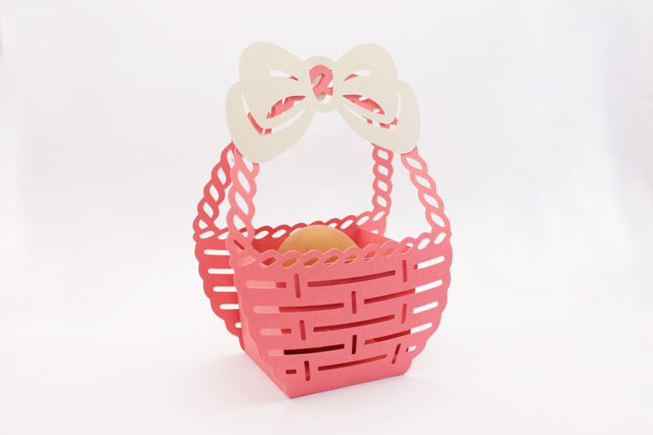 Easter basket svg Happy easter gift box svg
