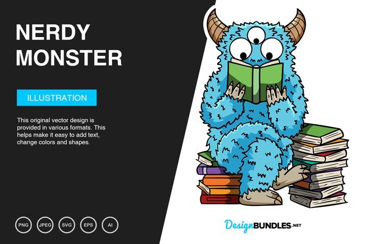 Nerdy Monster Vector Illustration