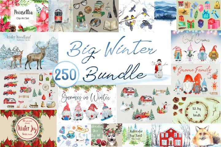 Big Watercolor Winter Bundle