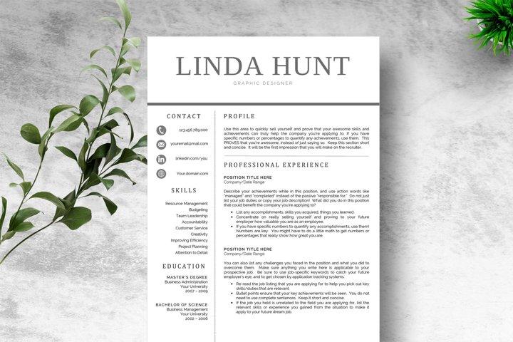 Chic Word Resume Template CV