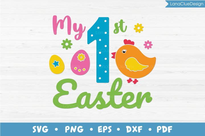 My 1st Easter SVG, Babys First Easter, Easter Chick, Eggs