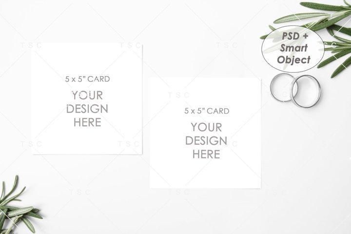 Wedding Suite Mockup / 5 x 5 Card