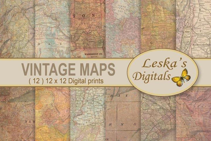 Maps Digital Background