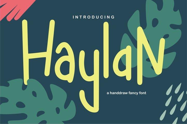 Haylan - A Handdraw Fancy Font