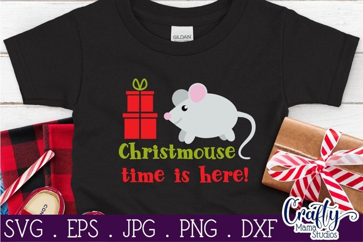 Christmas Svg, Animal Svg, Mouse, Christmouse Time Is Here