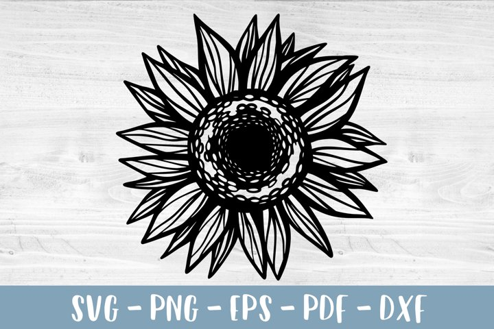 Sunflower SVG Sunflower PNG Sunflower clipart Paper cut file