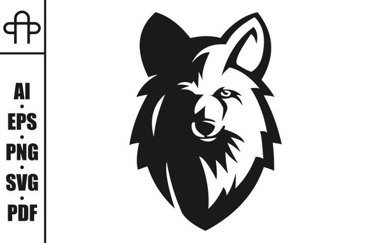 wolf head e sport mascot vector illustration