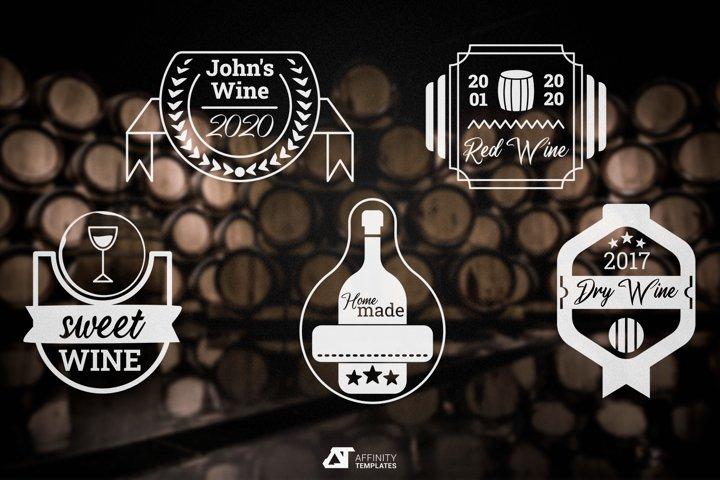 Wine Labels Bottle Badges vectors
