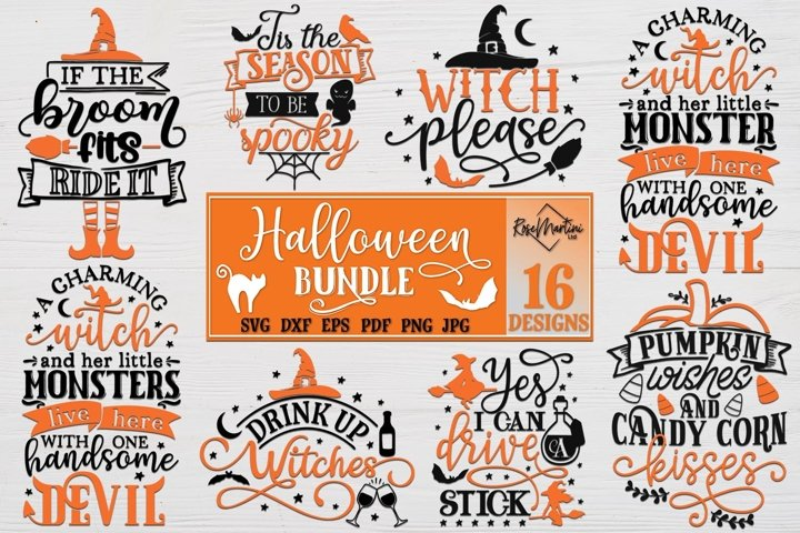 Halloween Bundle of 16 designs SVG Halloween Decorations