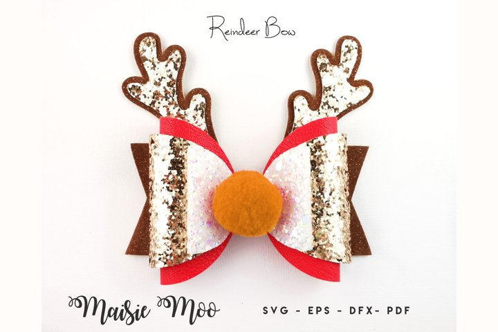 Reindeer Antler Bow Template, Christmas Bow SVG