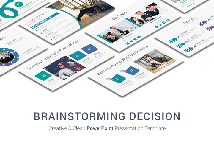 Discussion Brainstorming Decision Making Process PowerPoint