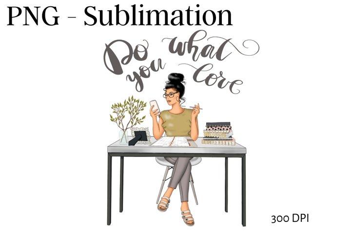 Sublimation Design Planner Girl Png