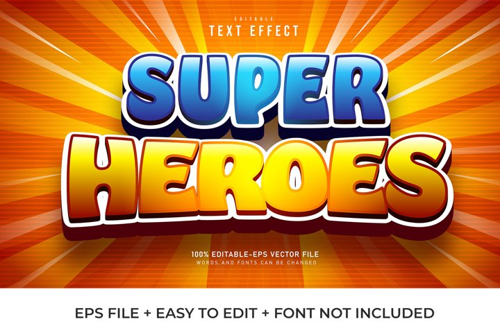 Super Heroes Vector Text Effect