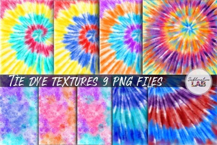 Tie Dye Textures Bundle Sublimation Background Brushstroke