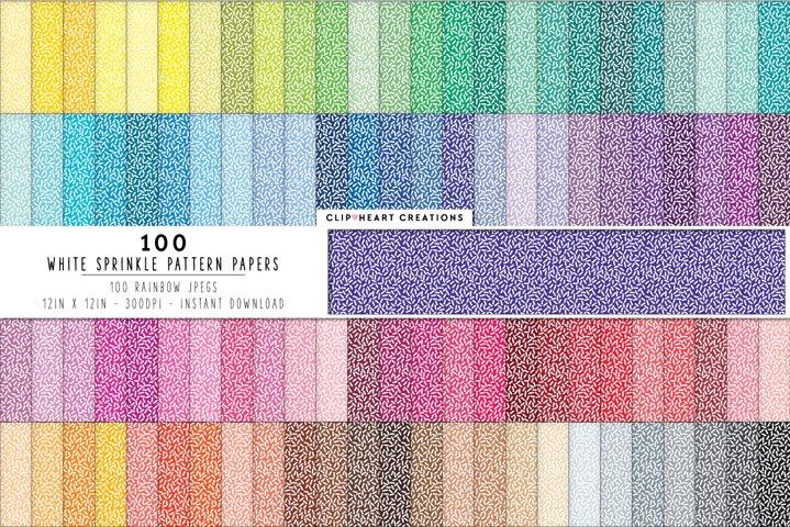 100 Sprinkles Pattern Digital Papers - rainbow colors