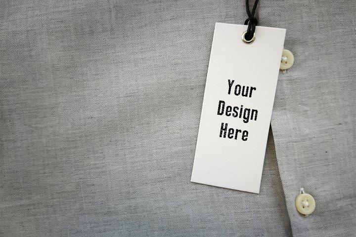 Clothing Retail Shirt Brand, Logo, Price Tag Mock-up mockup