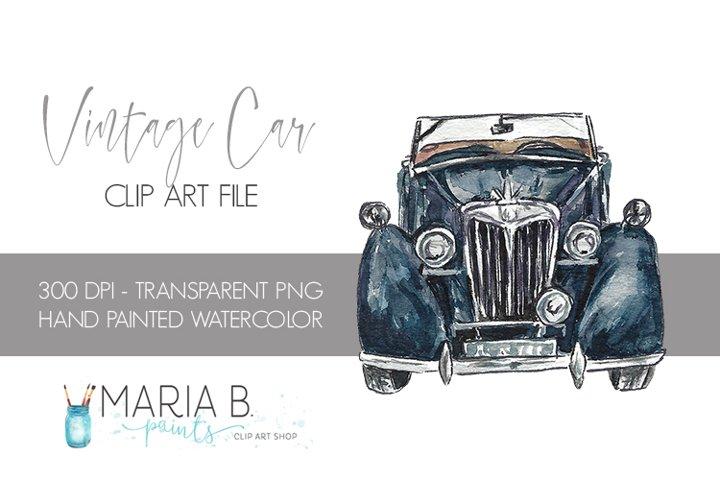 Download Vintage Black Car Watercolor Clipart Png 201080 Illustrations Design Bundles