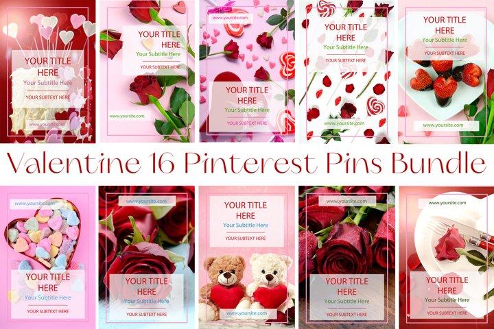 Valentine 16 Pinterest Pins JPeg Styled Stock Photos Bundle