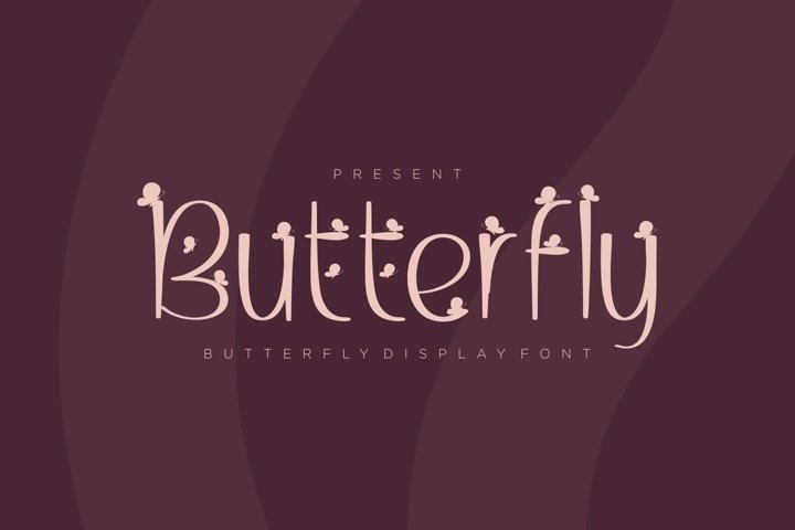 Butterfly - Butterfly Display Font