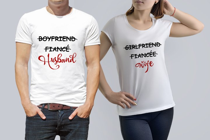 Wedding svg Boyfriend Fiance Husband Girlfriend Fiancee Wife