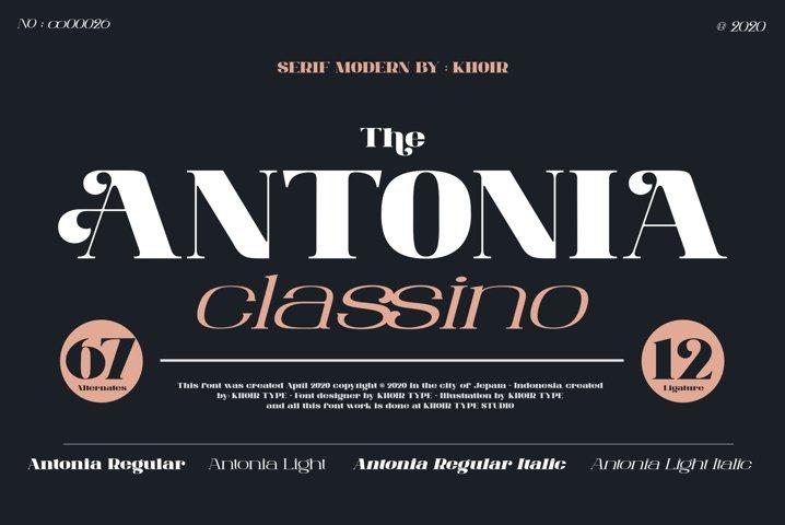 ANTONIA - The Classino Serif